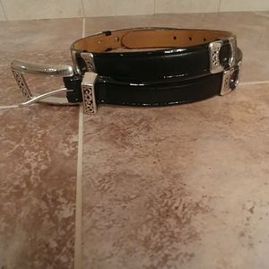 Brighton woman's belt - black and silver
